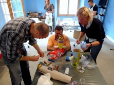 Teambuilding activities - Recycling Art