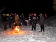 Teambuilding activities - Snowshoe hike with torches